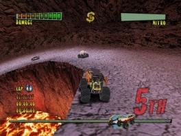 Ziet er heet uit. Het zou me niets verbazen als ik met gesmolten banden uit deze grot reed!