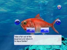 Je kunt ook allerlei vissen verplaatsen van het ene naar het andere aquarium.