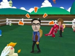 Je speelt in My Pokémon Ranch als je eigen Mii.