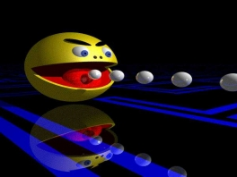Elke minigame speel je als hetzelfde personage: <a href = https://www.mario64.nl/Nintendo64_Namco_Museum_USA.htm>Pacman</a>