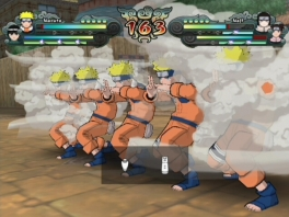 Maak gebruik van verschillende jutsu's zoals deze Shadow Clone Jutsu!
