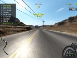 Op Nevada highway kan je heel makkelijk crashen!
