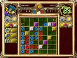 De game lijkt een combinatie tussen <a href = https://www.mario64.nl/nintendo64thenewtetris.htm target = _blank>Tetris</a> en Jewel Quest