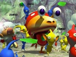 De <a href = https://www.mariocube.nl/GameCube_Spelinfo.php?Nintendo=Pikmin>pikmin</a>s rijden op iets wat op een lieveheersbeestje lijkt!