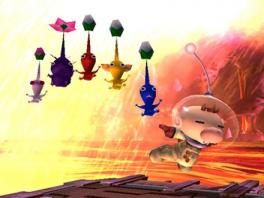 Spetterend artwork met alle <a href = https://www.mariocube.nl/GameCube_Spelinfo.php?Nintendo=Pikmin>Pikmin</a>.