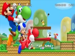 Speel met vier met deze personages: Mario, Luigi, Blue Toad en Yellow Toad!