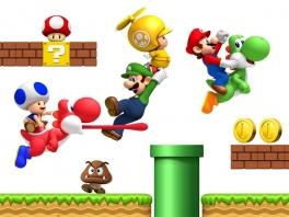 Tegenwoordig kan <a href = https://www.mario64.nl/Nintendo64_Yoshis_Story.htm>Yoshi</a> niet meer ontbreken in Super Mario Bros.!