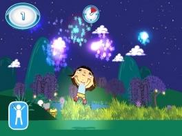 Leuk op en neer springen met wolkjes en sterrenstof!
