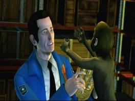 Ook het irritante aapje uit de film mag natuurlijk niet ontbreken!