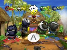 Als leden van een klungelig ninja-team probeer je je dorp te redden