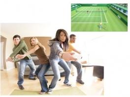 Een normale gezin zit te tennisen in de woonkamer... in 2006 was dat verbazingwekkend!