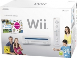 Het Wii Slim <a href = https://www.mariowii.nl/wii_spel_info.php?Nintendo=Wii_Sports>Wii Sports</a> + <a href = https://www.mariowii.nl/wii_spel_info.php?Nintendo=Wii_Party>Wii Party</a> Pack.
