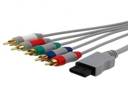 De zwarte stekker stop je in je Wii, en de gekleurde stekkers in je tv.
