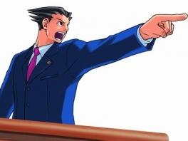 """Iedereen kent Phoenix meest beroemde uitroep: """"Objection!!!"""""""