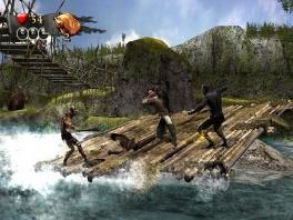 Versla vijandelijke piraten op de meest rare posities. Een schommelend vlot bijvoorbeeld.