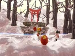 Die sneeuw maakt het gooien niet makkelijker, maar het geeft wel meer dekking