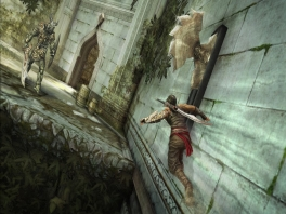 Zonder het rennen op verticale muren zou het geen echte PoP-game zijn.
