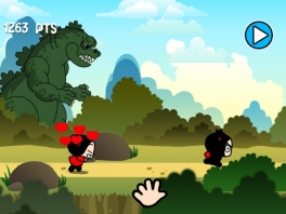 Garu kan heel hard rennen, maar Pucca haalt hem uiteindelijk toch wel weer in!