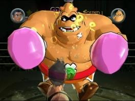 King Hippo vs Mac. Een plijster op zijn buik? Hum, waar zou zijn zwakke punt zijn?