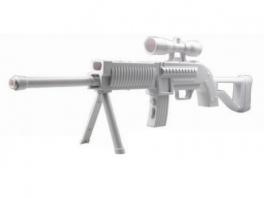Voor de enthousiastellingen is er nu ook een rifle om mee te schieten.