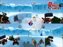 Ook is er een multiplayer-mode, die het best te vergelijken is met die van <a href = https://www.mario64.nl/Nintendo64_Mario_Kart_64.htm target = _blank>Mario Kart 64</a>
