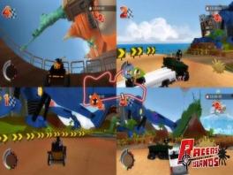 Net als in Racers' Islands: Crazy Arenas is ook hier de verplichte multiplayer-mode aanwezig