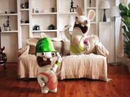 De Rabbids laten even zien hoe je TV Party speelt.