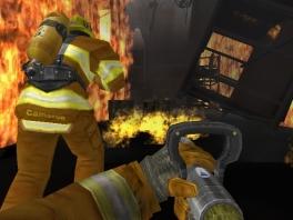"""""""Je wilde toch brandweerman zijn?"""" """"??"""" """"Wat doe je dan hier met die vlammenwerper?"""""""
