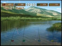 Speel als 1 tot 4... hengels. De vissers krijg je niet te zien.