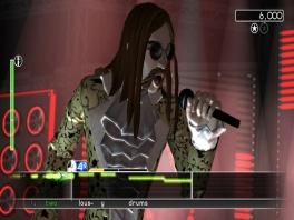 Kijk hoe stoer hij is!... o, je kan zingen in Rockband 3 zoals in <a href = https://www.mariowii.nl/wii_spel_info.php?Nintendo=We_Sing>We Sing</a>.