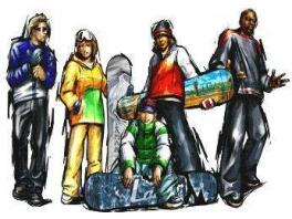 De karakters uit de N64-hit 1080° Snowboarding zijn voor deze game weer eens uit de kast gehaald!