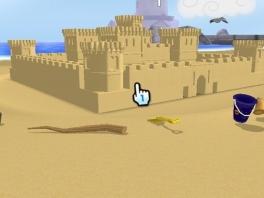 In deze game doe je wat iedereen op het strand graag doet: zandkastelen bouwen!