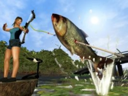 Je kunt de vis ook harpoeneren natuurlijk!