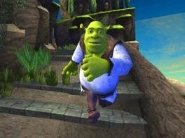 Speel als Shrek, de goedaardige oger, in zijn strijd om Ver, Heel Ver Van Hier!