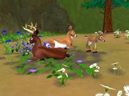 In SimAnimals moet je de dieren en planten gelukkig houden
