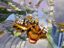 Bowser vliegt met zijn Clown Cruiser, samen hebben ze een super-combo!