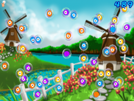 Vliegende bubbels en windmolens, goede combo!