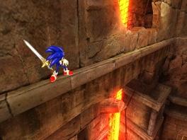 Sonic, kijk NIET naar beneden!