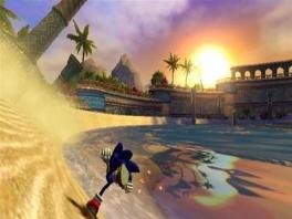 Snel over het zand rennen kan Sonic wel.
