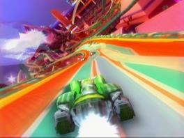 Kies je favoriete racer en wagen en scheur over de banen!