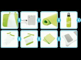De inhoud van de <a href = https://www.mariowii.nl/wii_spel_info.php?Nintendo=Wii_Balance_Board>Balance Board</a> Accessoires Bundel. Ideaal voor een potje zweten!