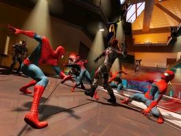 Vecht door middel van tijdreizen, als zowel de hedendaagse als de toekomstige <a href = https://www.mariowii.nl/wii_zoeken.php?search=spider-man>Spider-man</a>!