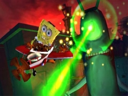Vecht als Spongebob en zijn vrienden tegen de monsterlijke Plankton.