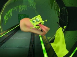 Glijden maar met die tong Spongebob!