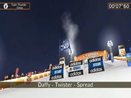 """Een """"Daffy-Twister-Spread""""? Ik noem het gewoon een split..."""