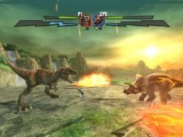 In dit spel voer je de ultieme strijd: welke dino overleeft het langst?
