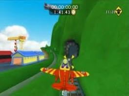 Hier zie je hoe een character een missie doet op de spoorwegen