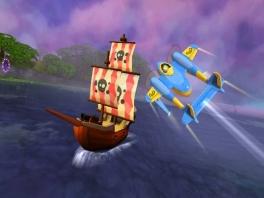 Oh nee, de aardsvijand van de piloot: de piraat!
