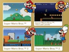 Super Mario geschiedenis boekje en 4 spellen: <a href = https://www.mariowii.nl/wii_spel_info.php?Nintendo=New_Super_Mario_Bros_Wii>Super Mario Bros</a> 1, 2, 3 en Lost Levels.