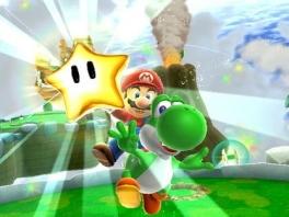 """""""Ik heb een ster"""" zegt mario.<br />""""Nee! Ik heb een ster!!"""" zegt <a href = https://www.mario64.nl/Nintendo64_Yoshis_Story.htm>Yoshi</a>"""